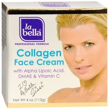 La Bella Collagen Face Cream with Alpha Lipoic Acid [Crema De Colageno] 4 oz [076973361233]