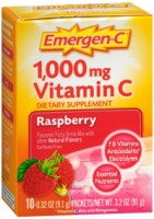 Emergen-C 1,000 mg Vitamin C Drink Mix Packets Raspberry 10 Each [076314302987]