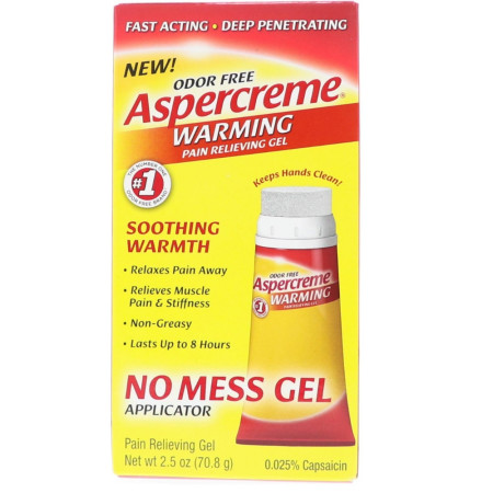 ASPERCREME Heat Pain Relieving Gel 2.50 oz [041167192207]