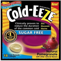 COLD-EEZE Lozenges Natural Pomegranate Sugar Free Box 18 Each [091108104226]