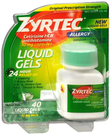 Zyrtec Allergy 10 mg Liquid Gels 40 Liquid Gels [300450204448]