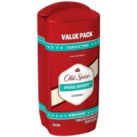 Old Spice High Endurance Deodorant Twin Pack, Pure Sport 3 oz, 2 ea [012044039540]