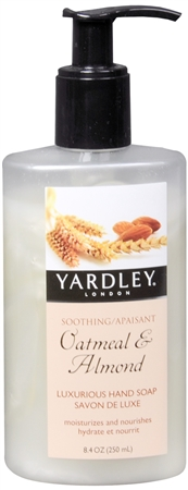Yardley London Luxurious Hand Soap Traditional Oatmeal & Almond 8.40 oz [041840829291]