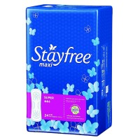 STAYFREE Maxi Pads, Super 24 ea [078300070245]