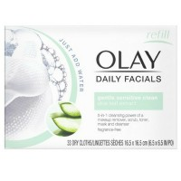 OLAY Daily Gentle Clean 4-in-1 Water Activated Cloths, 33 Ea [075609041280]