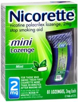 Nicorette 2 mg Mini Lozenges Mint 81 Each [307667880007]