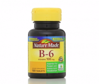 Nature Made Vitamin B-6 100 mg Tablets 100 ea [031604012854]