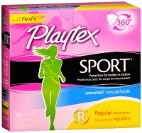Playtex Sport Regular Absorbency Tampons, Unscented 36 ea [078300099222]