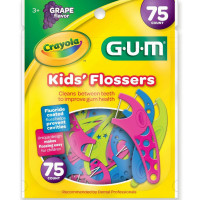 GUM Crayola Kids' Flossers, Grape, 75 ct [070942306515]
