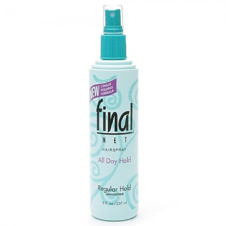 Final Net All Day Hold Hairspray, Regular Hold, Unscented 8 oz [827755020400]