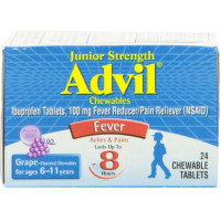 Advil Chewable Tablets Junior Strength 100 mg, Grape 24 ea [305730179201]
