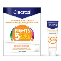 Clearasil Stubborn Acne Control 5in1 Concealing Treatment Cream, 1 oz [839977008043]