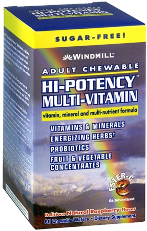 Windmill Hi-Potency Multi-Vitamin Tablets Adult Chewable 60 Tablets [035046050719]