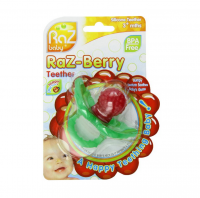 RaZbaby Raz-Berry Silicone Teether for 3+ Months 1 ea [857371000302]