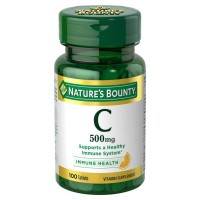 Nature's Bounty Vitamin C 500 mg Tablets 100 ea [074312015106]