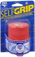 Self-Grip Self-Adhering Athletic Tape Bandage 3 Inches, Red 1 ea [078509033539]