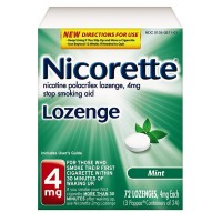 Nicorette Stop Smoking Aid Lozenge, Mint 4 mg 72 ea [307661500239]