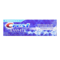 Crest 3D White Foaming Clean Whitening Toothpaste, 3.5 oz [037000947844]