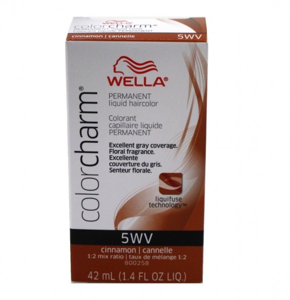 Wella Color Charm Liquid Haircolor 5wv Cinnamon 1 4 Oz 381519047527