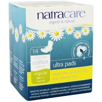 Natracare Natural Ultra Pads with Wings, Regular 14 ea [782126003058]