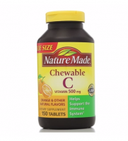 Nature Made Vitamin C 500 mg Chewable Tablets 150 ea [031604017170]
