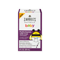 ZarBee's Baby Multivitamin with Iron, Natural Grape Flavor, 2 oz [898115002824]