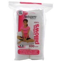 Swisspers Premium Cotton Squares Pillows 100 ea [048341007333]