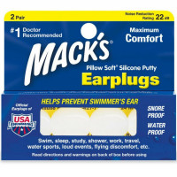 Mack's Pillow Soft Earplugs White 2 Pairs [033732000055]