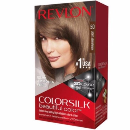 Revlon ColorSilk Hair Color, 50 Light Ash Brown 1 ea [309978695509]