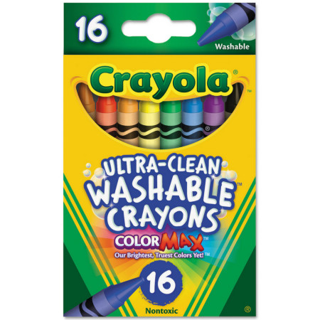 Crayola Ultra-Clean Washable Crayons 16 Each [071662069162]