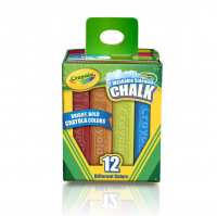 Crayola Washable Sidewalk Chalk, Assorted Colors 12 ea [071662612122]