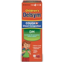 Delsym Children's DM Cough + Chest Congestion Relief Liquid, Cherry 4 oz [363824214641]