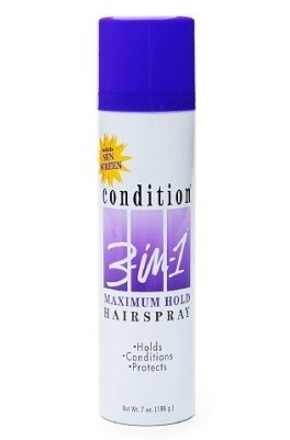 CONDITION 3-In-1 Hairspray Aerosol Maximum Hold 7 oz [827755040217]