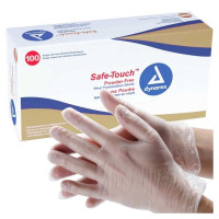 Dynarex Synthetic Vinyl Powder Free Glove, Large, 100 ea [616784261324]