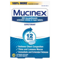 Mucinex 12 Hr Chest Congestion Expectorant, Tablets 40 ea [363824008400]