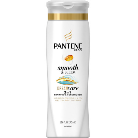Pantene Pro-V Medium-Thick Hair Solutions Frizzy to Smooth 2 in 1 Shampoo & Conditioner 12.60 oz [080878042272]