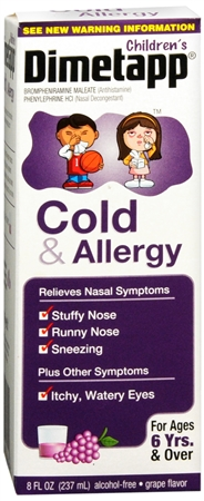 Dimetapp Children's Cold & Allergy Grape 8 oz [300312235191]
