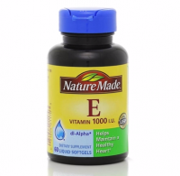 Nature Made dl-Alpha Vitamin E 1000 IU Softgels 60 ea [031604011703]