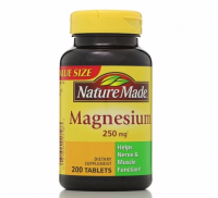 Nature Made Magnesium 250 mg Tablets 200 ea [031604017187]