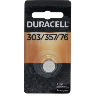 Duracell Silver Oxide Battery 1.5 Volt 303/357/76, 1 Each [041333130095]