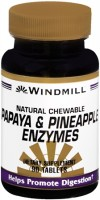 Windmill Papaya and Pineapple Enzymes Chewable Tablets 90 Tablets [035046003449]