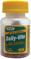 Rugby Daily-Vite Multivitamin Tablets 100 ea [005363547018]