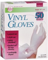 Cara Vinyl Gloves Large 50 Each [038056000637]