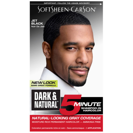Dark And Natural Men S 5 Minute Hair Color 3 Jet Black 1