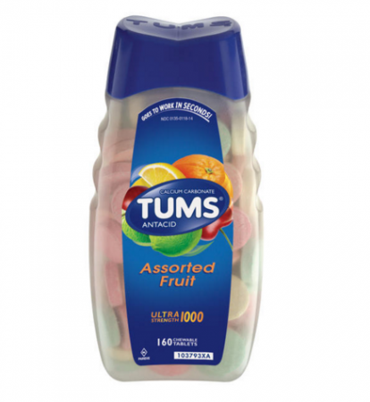 TUMS Ultra Strength 1000 Tablets Assorted Fruit 160 Tablets [307660746102]