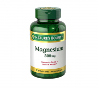 Nature's Bounty Magnesium 500mg Size, Coated Tablets 200 ea [074312530869]