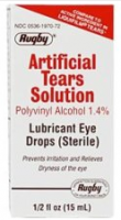 Rugby Artificial Tears Solution Sterile Lubricant Eye Drops 15 ml [305361970727]