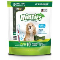 VetIQ Minties Bones Dental Treats for Dogs, Small Size Dog 10 ea [818145010453]