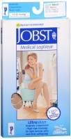 JOBST Medical LegWear Thigh High 15-20 mmHg Ultra Sheer Medium Beige 1 Pair [035664193782]