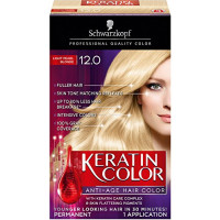 Schwarzkopf Keratin Anti-Age Hair Color Kit, Light Pearl Blonde [12.0] 1 ea [017000127804]